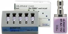 IPS e.max CAD Veneering Solutions HT (Haute Translucidité) I12 LA boîte de 5, inLab HT I12 A-D 42-1860
