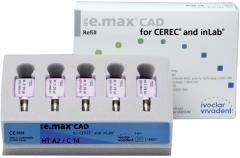 IPS E. MAX CAD HT (Haute Translucidité) C14  La boîte de 5, inLab HT C14 A-D  42-1881
