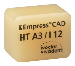 IPS EMPRESS CAD HT (Haute Translucidité) I12 La boîte de 5, I12 A-D 42-1353