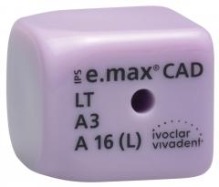 IPS e.max CAD Abutment Solutions LT (Basse Translucidité) A16  IPS e.max CAD CEREC/inLab LT A16L (5) 42-2352