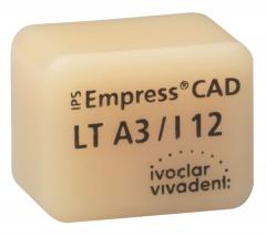 IPS EMPRESS CAD LT (Basse Translucidité)  I12 La boîte de 5, I12 A-D 42-1385